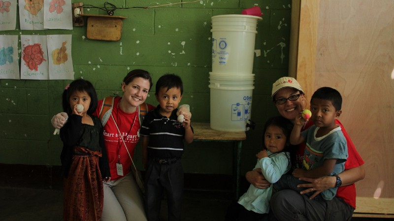 Visiting schools in Guatemala to administer de-worming medication to children.