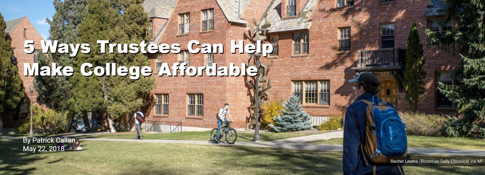 5 Ways Trustees Can Help Make College Affordable